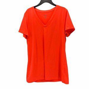 Reebok Womens Pullover Top T Shirt Orange Size L